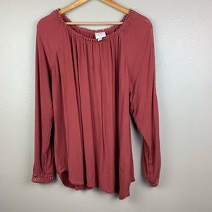 Knox Rose long sleeve top, size 1x